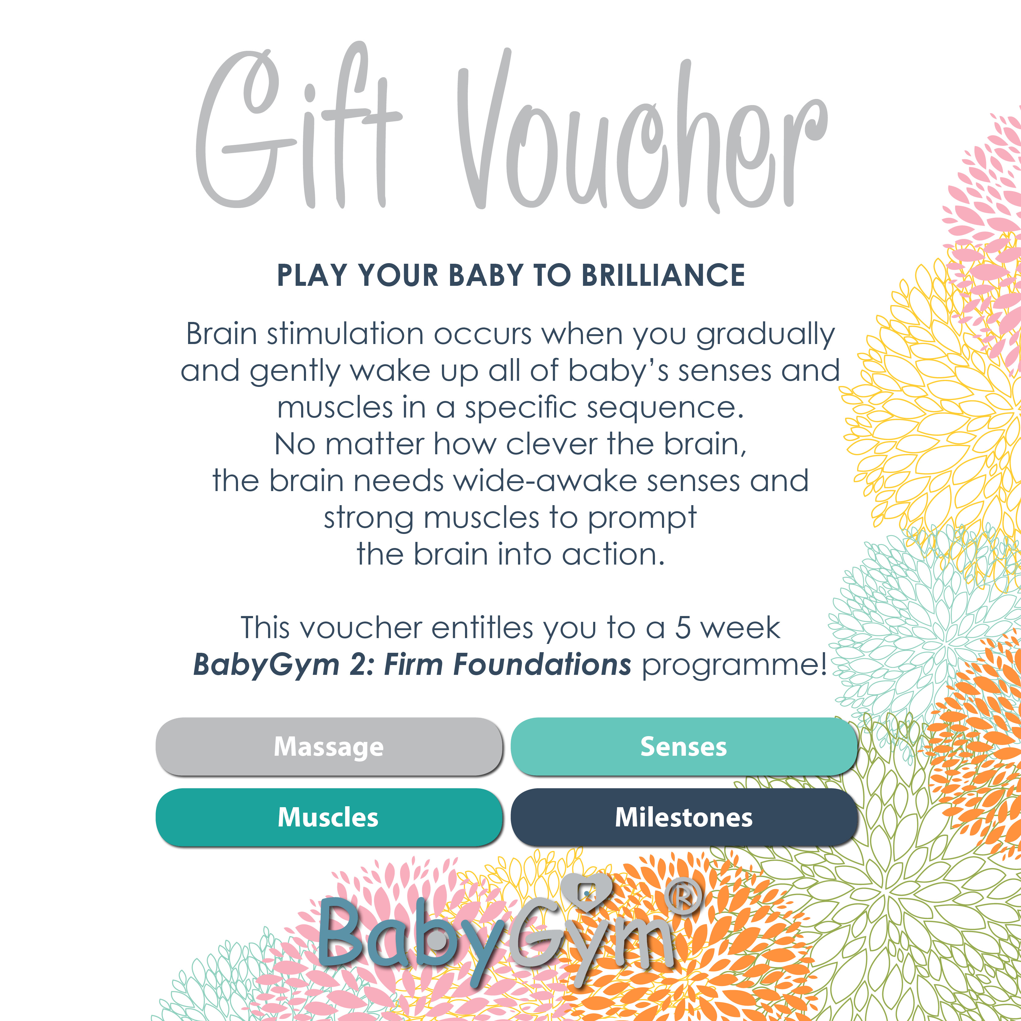 Book Shop Mind Moves Institute Babygym 2 Class Gift Voucher Gift